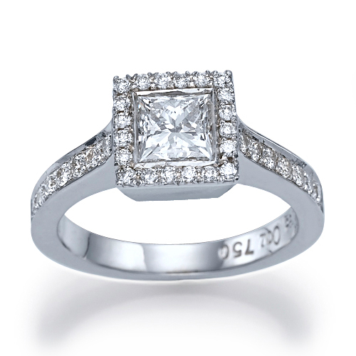 1 1 3 ct vs2 d engagement ring princess cut 14k