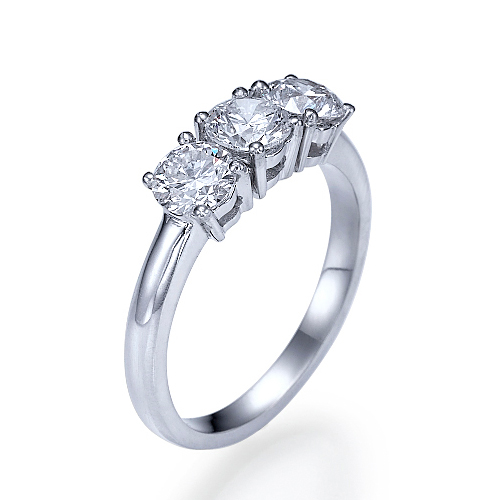 Engagement Rings Netherlands: 1 Ct Si1/d Solitaire Diamond Engagement Ring Round Cut 14K
