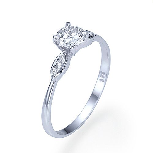 1 3 CT SOLITAIRE DIAMOND ENGAGEMENT RING 14K WHITE gold D SI1 ROUND CUT SIZE 6.5