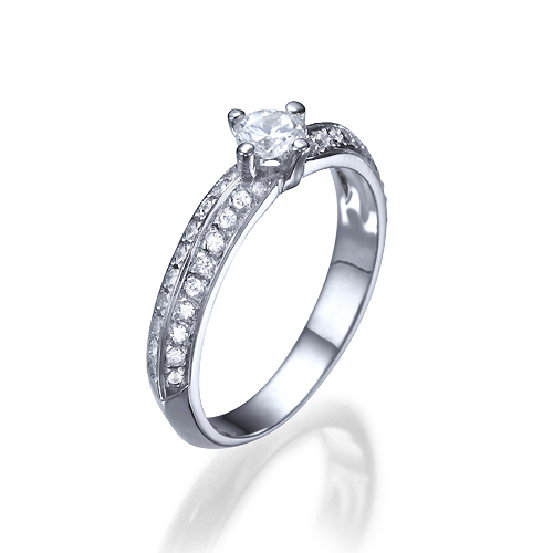 e625d88a06e71 1/2 Ct Solitaire Diamond Engagement Ring 14K White Gold G Si2 Round Cut  9266 • $675.00