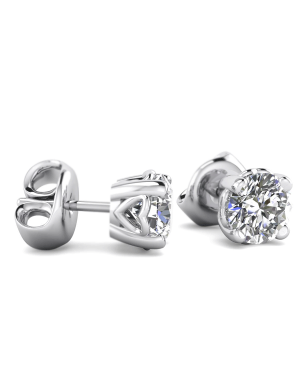 34f1c8441b05c Details about 1/2 cttw Round Cut 14K White Gold Diamond Stud Earrings